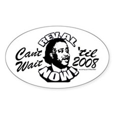 Rev. Al President NOW Oval Decal