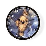 Sleeping Kitten Wall Clock