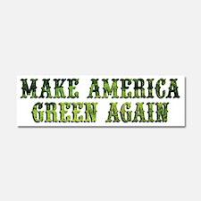 GreenAgainTransparent Car Magnet 10 x 3