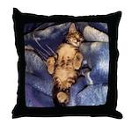 Sleeping Kitten Throw Pillow