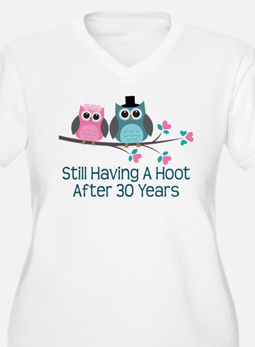 30th Anniversay Owls Plus Size T-Shirt