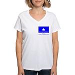 Bonnie Blue, SI, CUC Women's V-Neck T-Shirt
