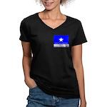 Bonnie Blue, SI, CUC Women's V-Neck Dark T-Shirt