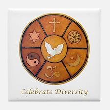 Interfaith, Celebrate Diversity - Tile Coaster