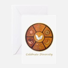 Interfaith, Celebrate Diversity - Greeting Card
