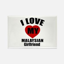 I Love My Malaysian Girlfriend Rectangle Magnet