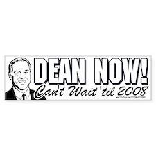 Howard Dean President NOW Bumper Bumper Sticker