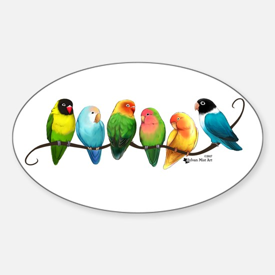 Colorful Lovebirds Decal