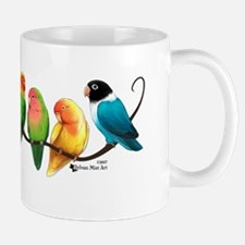 Colorful Lovebirds Mugs
