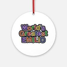 World's Greatest Emilio Round Ornament