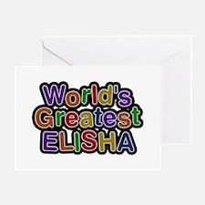 World's Greatest Elisha Greeting Card