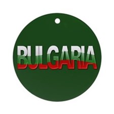 """Bulgaria Bubble Letters"" Ornament (Round)"