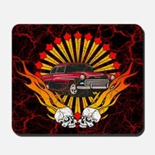 50's HotRod and Skulls Mousepad