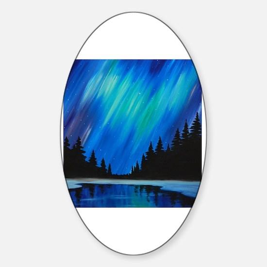 Funny Aurora borealis Sticker (Oval)