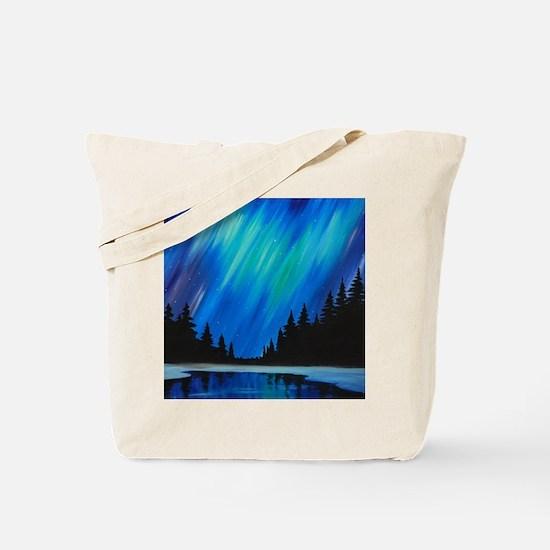 Unique Aurora borealis Tote Bag