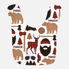 Lumberjack Design Polyester Baby Bib