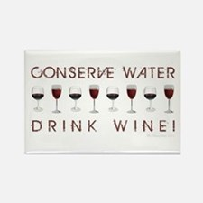 CONSERVE WATER... Rectangle Magnet