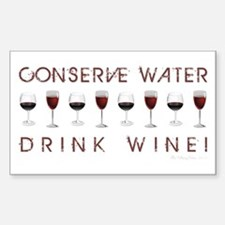 CONSERVE WATER... Sticker (Rectangle)