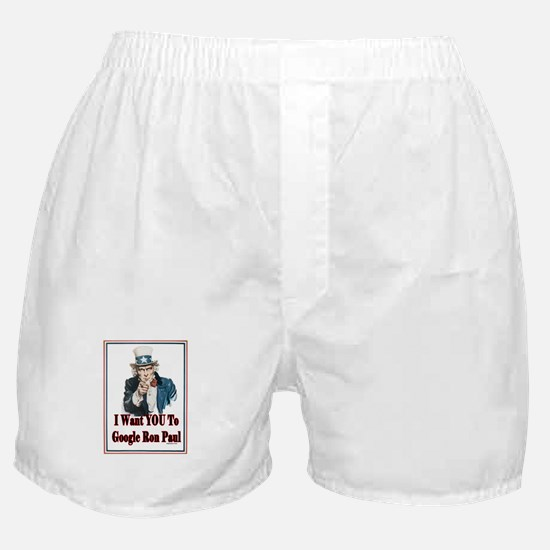 I Want You To Google Ron Paul Boxer Shorts