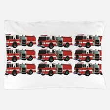 rows and rows of fire trucks Pillow Case