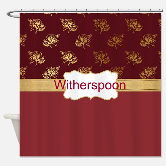 burgundy and gold shower curtain. Funny Burgundy and gold Shower Curtain And Gold Curtains  CafePress