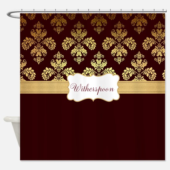 burgundy and gold shower curtain. Cool Burgundy and gold Shower Curtain And Gold Curtains  CafePress