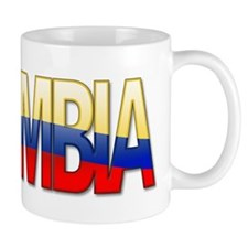 """Colombia Bubble Letters"" Mug"