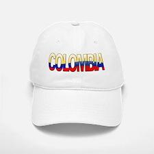 """""""Colombia Bubble Letters"""" Baseball Baseball Cap"""