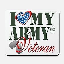 I Love My Army Family Mousepad