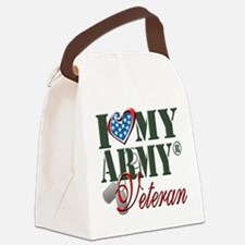 I Love My Army Family Canvas Lunch Bag