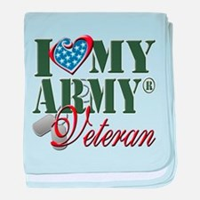 I Love My Army Family baby blanket