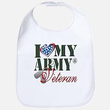 I Love My Army Family Baby Bib