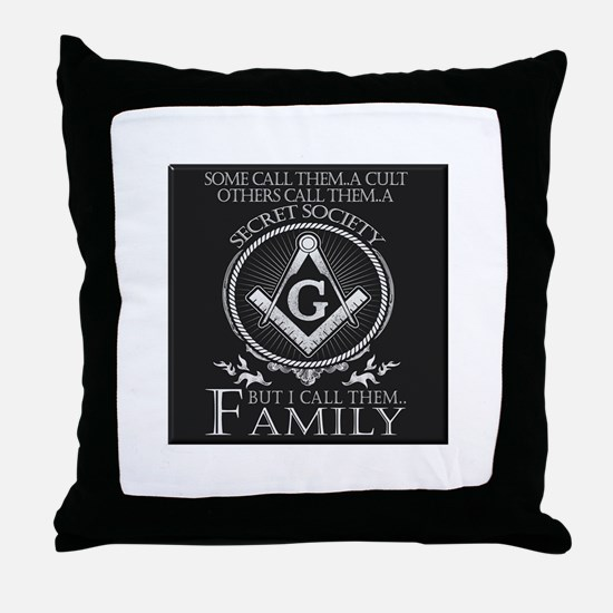 Masons Family Throw Pillow