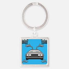 blue Delorean Keychains