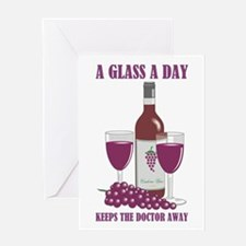 A GLASS A DAY Greeting Cards