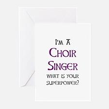 choir singer Greeting Cards