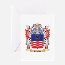 Reyna Coat of Arms - Family Crest Greeting Cards