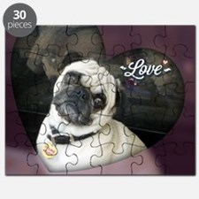 Cute Pug mother%27s day Puzzle