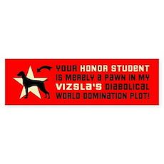 Vizsla honor student pawn Bumper Sticker