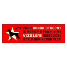 Vizsla honor student pawn Bumper Bumper Sticker