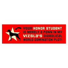 Vizsla honor student pawn Bumper Car Sticker