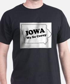 Iowa, We so corny Ash Grey T-Shirt