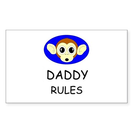 DADDY RULES Rectangle Sticker