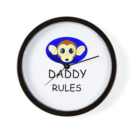 DADDY RULES Wall Clock