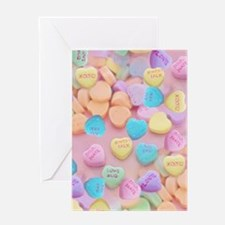 valentines candy hearts Greeting Cards
