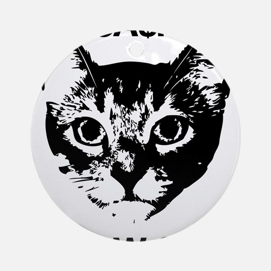 CASH MEOW SIDE Round Ornament