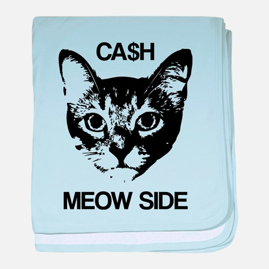 CASH MEOW SIDE baby blanket