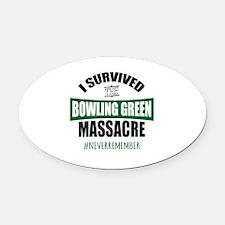Bowling Green Massacre Oval Car Magnet