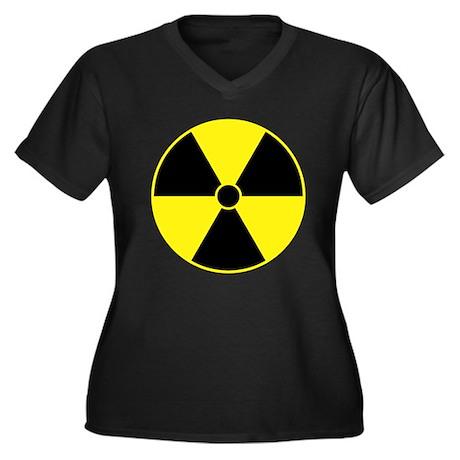Radiation Symbol (yellow) Women's Plus Size V-Neck