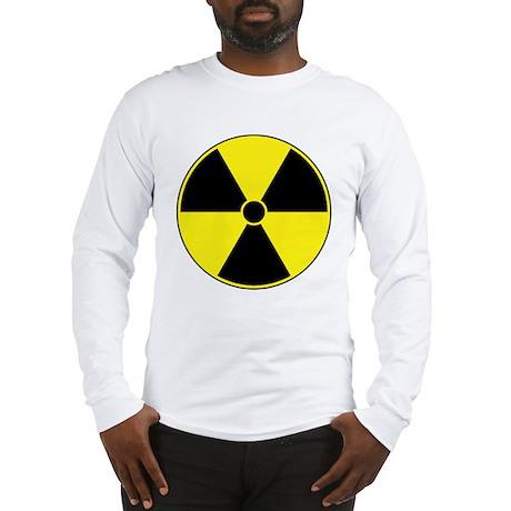 Radiation Symbol (yellow) Long Sleeve T-Shirt